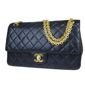 CHANEL CC Matelasse Double Flap Chain Shoulder Bag